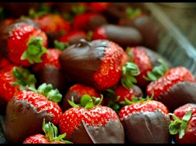 Chocolate Covered StrawberriesFresh Strawberries Hand-Dipped in Decadent Chocolate.